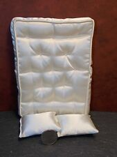 Dollhouse Miniature Double Mattress 2 Pillows 1:12 inch scale G75 Dollys Gallery