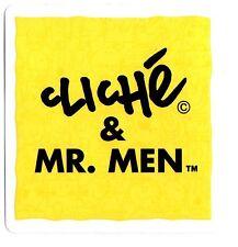 """CLICHE/Mr Men """"SQUARE"""" Adesivo Skateboard 9 CM x 9 cm Giallo Snowboard Camper"""