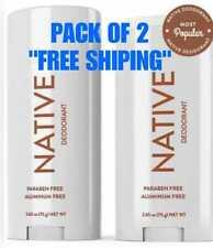 """NATIVE DEODORANT COCONUT & VANILLA SCENT ALUMINUM FREE LONG LASTING """"PACK OF 2"""""""