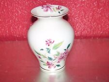 "Beautiful Lenox Barrington Collection Floral Flower Vase 5.5"" Gold Trim"