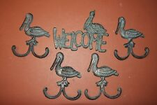 Beach House Pelican Home Decor, Pelican Design Welcome Plaque, Lot of 5 pcs -