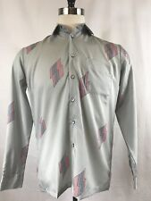 VTG D'AVILA MENS Rare L/S BUTTON FRONT SHIRT SIZE MEDIUM