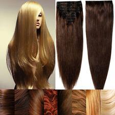 Premium Virgin Colour Clip In Remy Human Hair Extensions Full Head Festival E415