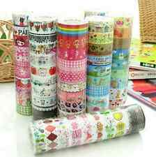 BULK 10pcs Meter Paper Sticky Adhesive Sticker Decorative Washi Tapes