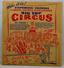 General Electric Refrigerator Big Top Circus années 1950 parfait état 6 planches