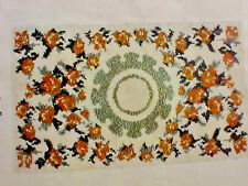 Hand Painted Latch Hook Rug Canvas Tapis Pingouin Symphonie 51 1/2 x 30