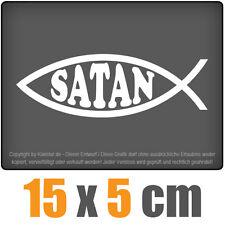 Satan Fisch 15 x 5 cm JDM STICKER étiquette COURSE VITRE Voiture Automatique