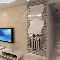 PT_ LC_ 6 x rimovibile camera specchio da parete adesivi FAI DA TE PER CASA