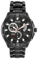 Citizen Eco-Drive Men's Perpetual Calendar Alarm Black 42mm Watch BL8097-52E