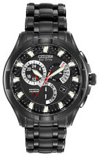 Citizen Eco-Drive Men's Perpetual Calendar Alarm Black 42mm Watch BL8097-52E