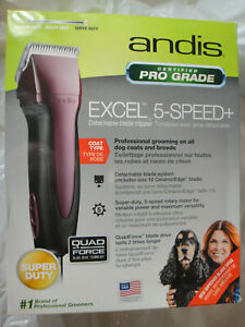 ANDIS SMC SUPER DUTY 65360 EXCEL 5 SPEED DETACHABLE BLADE CLIPPER BRAND NEW