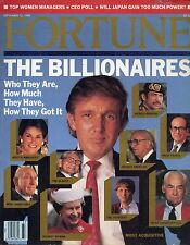 TRUMP [ Fortune Magazine ]  THE BILLIONAIRES Sept 12,1988 LIKE NEW