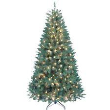 Kurt Adler Pre-Lit Point Pine Christmas Tree, 7-Feet, Metal Stand