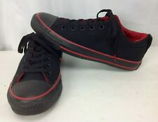 Converse Low Skate Shoes Black w/ Red Ltd Edition Sneakers - Men's 8