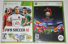 Xbox 360 Game Lot - FIFA Soccer 12 (New) UEFA EURO 2008 (New)