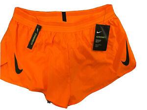 """$80 NEW Mens Nike Aeroswift Running Racing Shorts Orange 2""""  AQ5257 803 XL"""