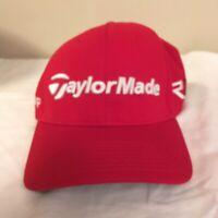 New Era 39Thirty TaylorMade R15 Aero Burner Golf Hat Cap Red w/ White Text S/M