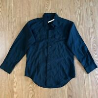 Vintage Blue Made in USA Button Up Casual Shirt L