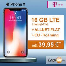 Apple iPhone X 64GB Handy mit Telekom Vertrag 12GB Allnet Flat inkl. 39,95 €mtl.