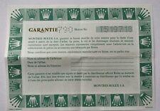 ROLEX 1996 VINTAGE PAPER CERTIFICAT WARRANTY OYSTER PERPETUAL LADY 568.00.40.996