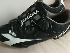 diadora zvortrex black and white cycle shoes size 41