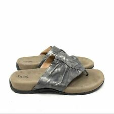 Taos Footwear GIFT 2 Leather Thong Comfort Sandals size 10