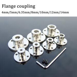 4/5/6.35/8/10/12/14mm Rigid Flange Coupling Motor Guide Shaft CouplerConnector