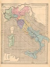 1875 Ca ANTIQUE-ITALY WITH SICILY, SARDINIA