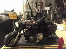ZY Toys 1/6 Black Motorcycle Motorbike For DX13 DX10 Terminator T800 Arnold New