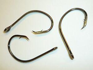 (100) Eagle Claw Lazer Circle Sea hooks (Size 4/0) Black (L197BK) BULK