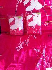 Serviettes de bain rose/blanc ,130x71cm,NEUVES BLISTER