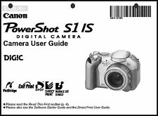 Canon Powershot S1 IS Digital Camera User Guide Instruction  Manual