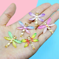 10 pcs Multicolors Resin Flatback Dragonfly DIY Craft Making Decors 32x27x4mm