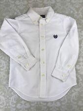 Chaps Boys Size 4 4T Long Sleeve White Oxford Button Down Shirt