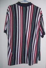 Vintage Gant Rugger mens shirt size L polo golf shirt vertical stripe EUC