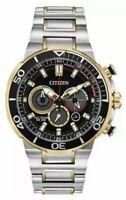 NEW Citizen Eco-Drive CA4258-87E Brycen Men's 46mm Two-Tone S/Steel Chrono Watch