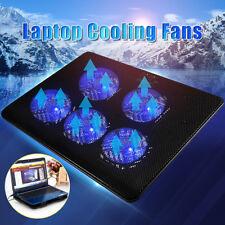 5 Fans  LED USB Port Cooling Stand Pad Cooler For 12''-17'' Laptop Notebook  !