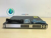 Cisco WS-C3750G-24PS-S • 24-Port PoE 10/100/1000 3750G Gigabit Switch ■FASTSHIP■