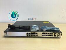 Cisco WS-C3750G-24PS-S • 24-Port PoE 10/100/1000 3750G Gigabit Switch ■FASTSHIP■