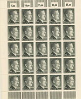 Stamp Germany Mi 799 Sc 524 Sheet 1941 WWII 3rd Reich 1RM Hitler German MNG