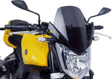 PUIG NAKED NEW GENERATION WINDSHIELD (DARK SMOKE) Fits: Yamaha FZS1000 FZ1