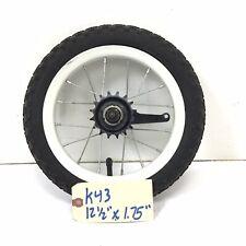 """12"""" Rear White Bicycle Wheel w/ Coaster Brake & 12 1/2"""" x 1.75"""" Tire Bike #k43"""