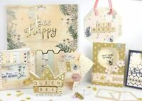 *OFFER* Trimcraft Premium 'Bee Happy' Gold Paper Craft Collection - FULL RANGE!
