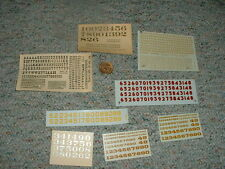 Walthers etc decals HO Numbers letters various  Lot1  G56