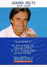 PUBLICITE ADVERTISING 1995   EUROPE 1 radio   GERARD HOLTZ