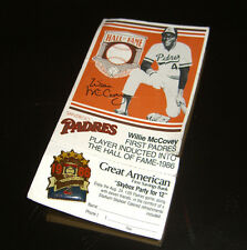 1986 San Diego Padres Willie McCovey Baseball Card and Pin