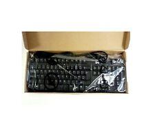 NUOVO in scatola Dell Desktop Server USB esterna Regno Unito Tastiera Inglese Nero 105 uy780