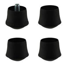 MWH Fusskappen Set  Ø 25mm schwarz 3 x Fusskappe 1 x Verstellkappe 942-25
