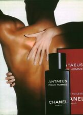 Publicité ancienne parfum eau de toilette Antaeus Chanel issue de magazine