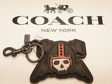 HARD TO FIND MULTI-COLOR COACH SKULL AND LIGHTNING BOLT KEY RING KEY FOB - 20477